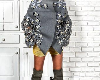 Womens Cardigan Jacket, Oversized Cardigan, Gray Loose Cardigan, Boho Cardigan, Winter Cardigan, Avant Garde Coat, Futuristic Clothing