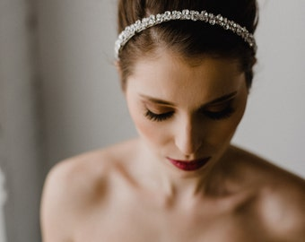 Rhinestone Bridal Headpiece | Crystal Headband | Bridal Headband | Wedding Hairpiece | Wedding Hair Tiara | Silver Stella Headband