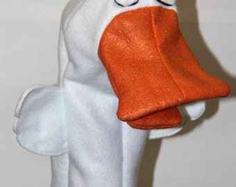 Duck Hand Puppet Pattern with Movable Mouth