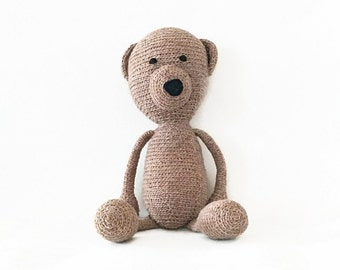 Teddy Bear Crochet - Amigurumi Bear - Waldorf Toy - Baby and Toddler Toys - Stuffed Animals and Plushies - Montessori Natural Toy
