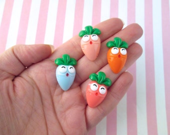 4 Assorted Carrot Cabochons #481