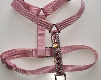 Swarovski Crystal Dog Harness, Adjustable dog harness, Small Dog Harness, Crystal Harness, Rhinestone Harness