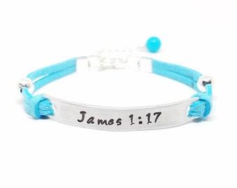 Scripture Bracelet | Bible Verse Bracelet | Scripture Jewelry | Encouragement Bracelet | Faith Bracelet | Bible Affirmation Jewelry