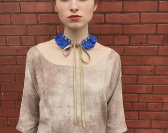 Crocheted Collar - Hand Dyed