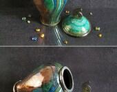 raku pottery Urn, cremation urn, ceramic urn for ashes, keepsake urn, human urn, pet urn, memorial urn, personalized urn, cat urn, dog urn