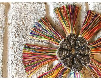 Rainbow Tassels, tassel earrings, Bejeweled Tassels, 3.25 Inch 85mm Tassel, rainbow jewelry, tassel necklace, rainbow jewelry, silk tassel