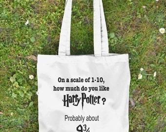 Harry Potter Tote Bag - Hogwarts Express - Harry Potter Gift - Canvas Tote Bag - Book Bag - Harry Potter Bag - dumbledore - HP