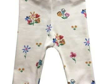 Organic Baby Legging, Toddler Turban, Baby Boy Girl Pant, Baby Slouch Pant, Baby Baggy Pant, Organic Baby Legging, Golden Afternoon  legging