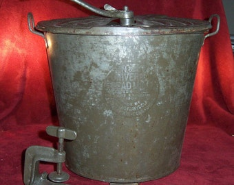 Antique Universal Bread Maker, Complete, Large No 8 by Landers Frary & Clark  Early 1900's Industrial Americana made in USA