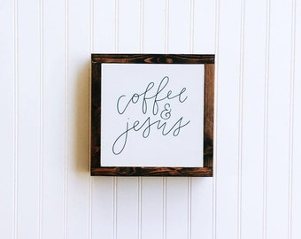 Coffee & Jesus    wood home decor