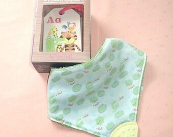 Baby Gift Beautiful handmade baby bib and alphabet flash cards