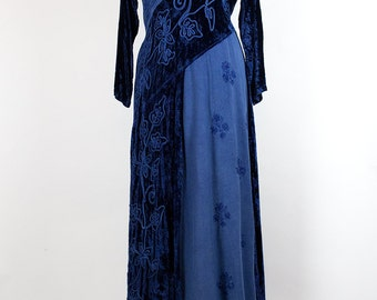 Vintage Dress // Velvet// Rayon// Boho // Hippie