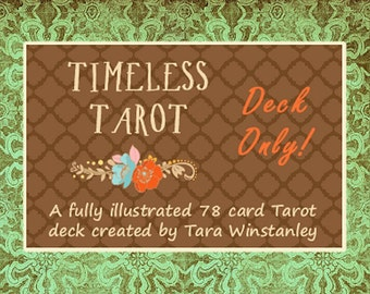 Temporarily out of stock/order with 3-4 week delay in shipping ... The Timeless Tarot / A traditional Tarot deck based on RWS system.