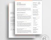 Resume Template, CV Template with Cover Letter, One Page Resume, Modern Resume, Professional Resume, Resume Template 32