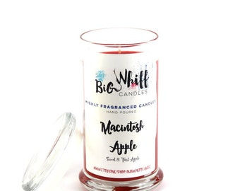 Macintosh Apple - Scented Candles, Handmade Candles, Scented Candle, Aromatherapy Candles, Macintosh Apple Candle, Tart Apple Candle