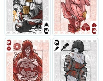 Oni Playing Cards Queens Poster