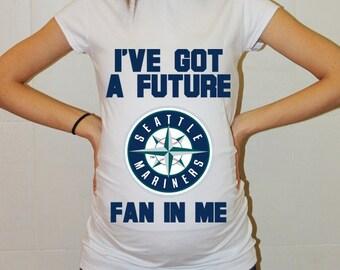 Seattle Mariners Baby Seattle Mariners Shirt Women Maternity Shirt Funny Baseball Pregnancy Pregnancy Shirts Pregnancy Clothing