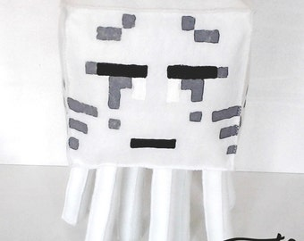Large plush inspired by the Minecraft Ghast handmade felt (unofficial) made by custom