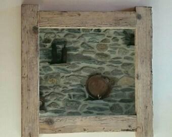 Old wood framed mirror