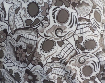 2 Yards Skull Print Spandex Fabric