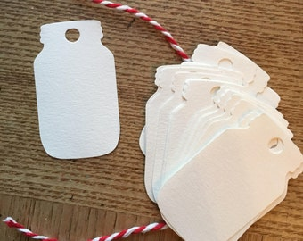 Cardstock Mason Jar gift Tags, Jar Labels, Favor tags