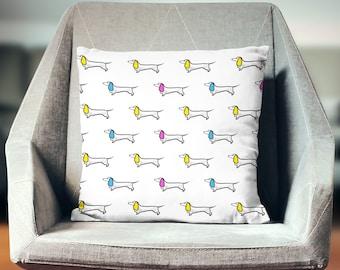 Daschund Pillow | Daschund Throw Pillow | Daschund Pillow Cover | Daschund Gift | Daschund Decor | Daschund Cushion | Daschund Home Decor