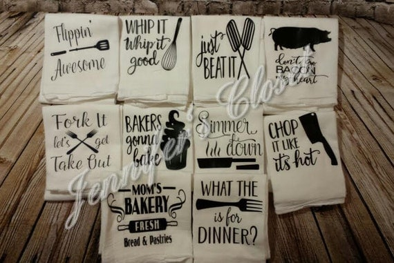 flour sack towel funny kitchen decor funny kitchen towels