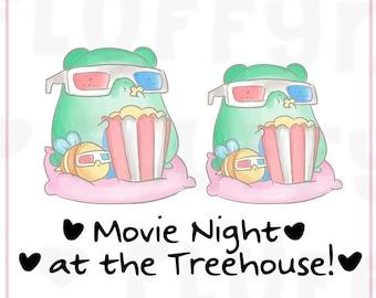 Movie Night Sprinkles || Planner Stickers, Cute Stickers for Erin Condren (ECLP), Filofax, Kikki K, Etc. || STB09