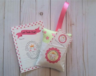 Tooth Fairy pillow,Princess tooth Fairy,First loose tooth
