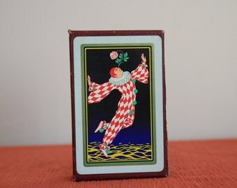 Mardi Gras Playing Cards vintage 1920s used Congress Marguerite 130 A Dougherty