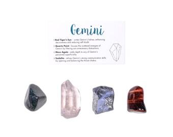 Gemini Crystal Set / Zodiac Crystal Set / Healing Crystal Set / Gemini Gifts / Gemini Crystals / Gemini Healing Crystals / Healing Stones