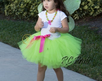 Tinkerbell Outfit-Tinkerbell Halloween Costume-Butterfly Halloween Costume-Girl Fairy Costume-Fairy Birthday Outfit-Toddler Fairy Costume