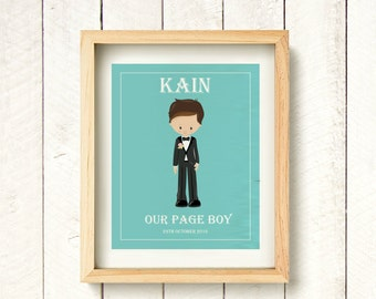 Page boy gift, present for page boy, wedding prints, personalised page boy gift, gift ideas for page boy, thank you wedding gift