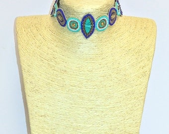 Embroidered Indian Choker