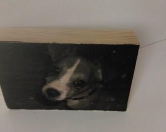 Wooden photo block, personalised photo gift, Rustic photo display, keepsake gift, Rustic block, home decor, memorial, dog lover, New home