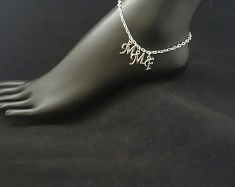 MMF/MFM/FMF Hotwife Anklet Jewelry Swinger Jewelry Silver Plated