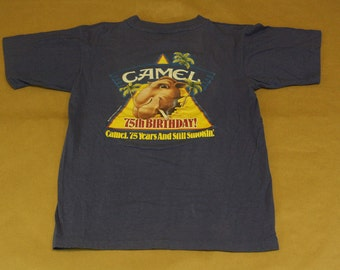 Camel Cigarettes T-Shirt 75th Birthday - VTG 80s Tobacco Smoking Apparel