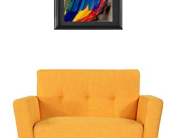 Large Watercolour Macaw Parrot Painting - Colourful Contemporary Art - Original Affordable Australian Art for Bird Lovers - Tropical Colours