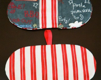 One Microwave Mitt - Fingertip Mitt - Mini Mitts - Microwave Pot Holder - Pinchers - Veggie Themed - Chalkboard Themed - Gift under 10