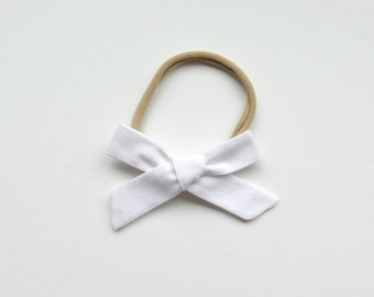 Classic White // Single Headband or Clip