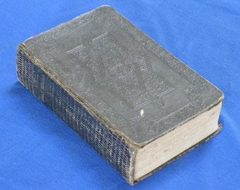 1839 large black leather bible