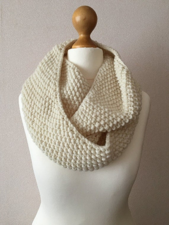 Seed Stitch Infinity Scarf Knitting Pattern
