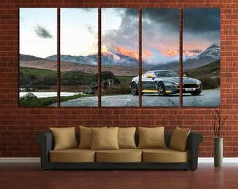 Aston Martin Wall Art Multi Panels Set Muscle Car Wall Art Cars Canvas Art Sport Cars Wall Art Supercar Print Poster