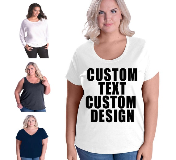 Custom Curvy T-shirts Tank-top V-neck T-shirt and pullover