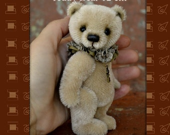 PDF Pattern Teddy Bear 12 cm Artist Teddy Bear Pattern PDF Pattern Teddy Bear Toy
