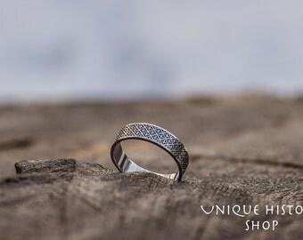 Unique Ornament Ring Handmade Sterling Silver Unique Jewelry