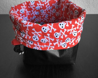 The Jolly Roger - Red Large Dice Bag