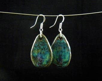 Ceramic earrings waterdrops