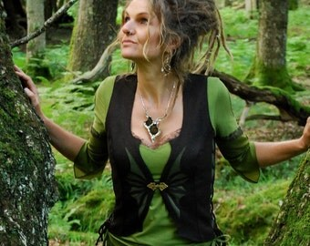 Tribal waistcoats, Pixie clothes, Festival vests, Hippie wear, Sexy top for women, Gypsy clothing, Steampunk vest, Funky chic, Her Psy style