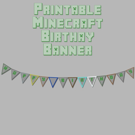 how to make a minecraft birthday banner